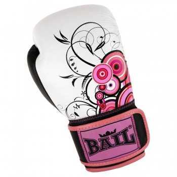 Boxerské rukavice zn. Bail - ROYAL circle pink
